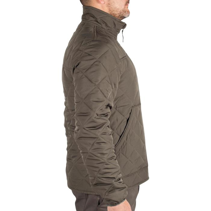 Quilted hunting jacket 100 - camouflage green - 1000582