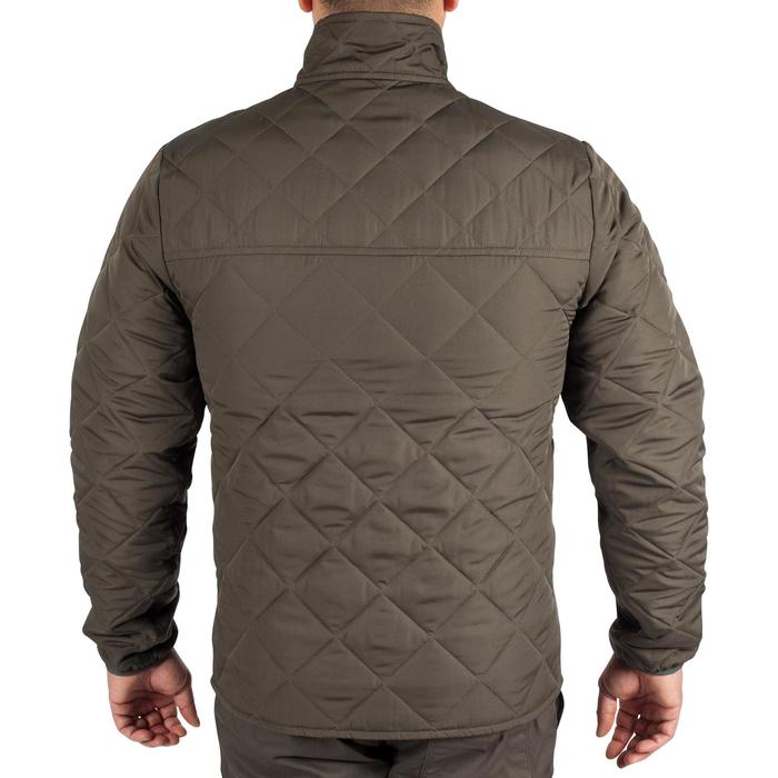 Quilted hunting jacket 100 - camouflage green - 1000583