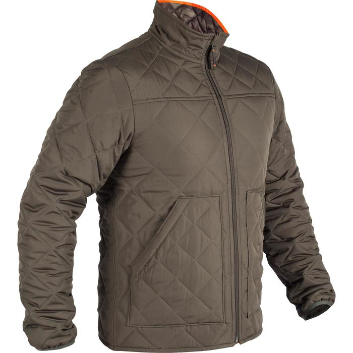 Quilted hunting jacket 100 - camouflage green - 1000588