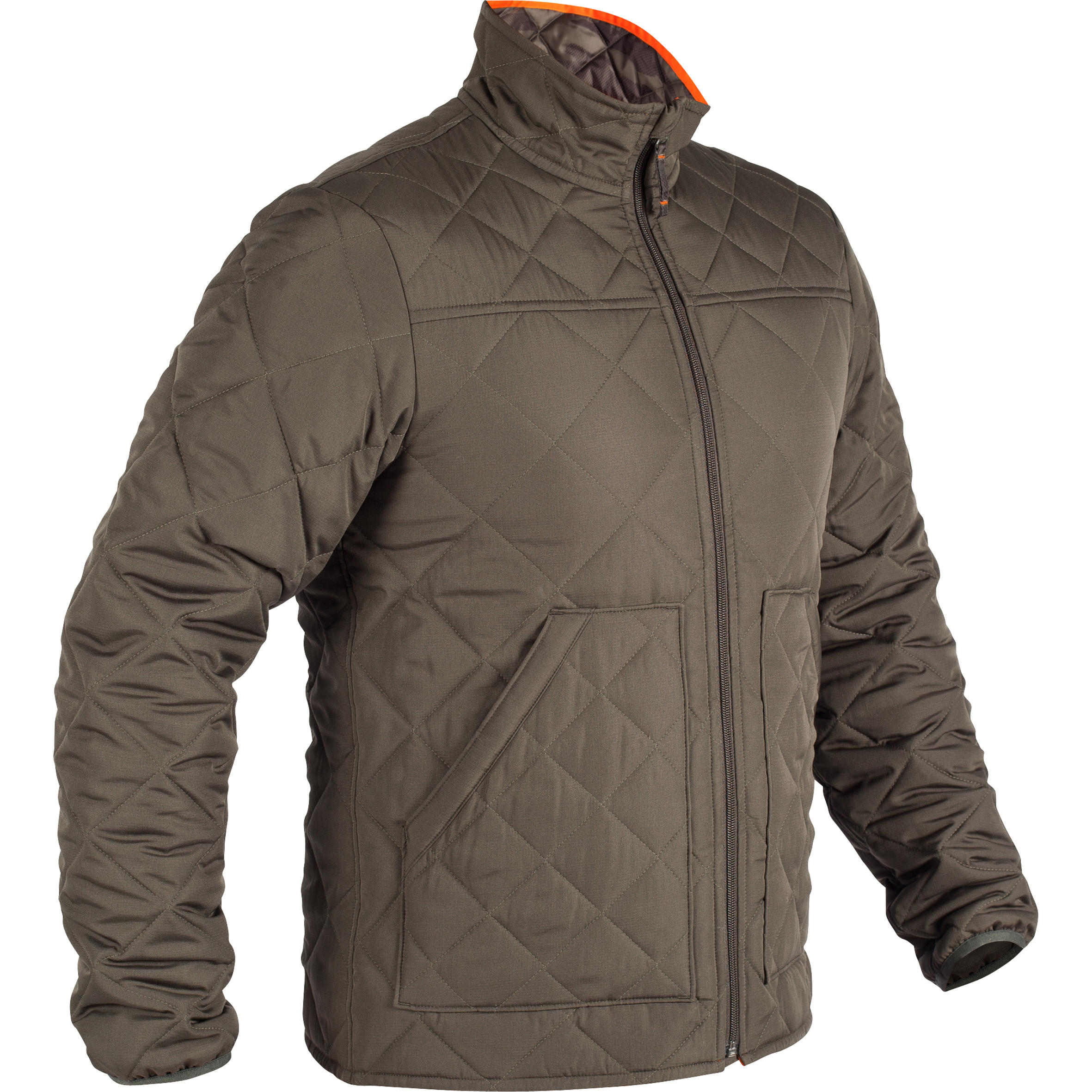 Jachetă matlasată 100 verde imagine