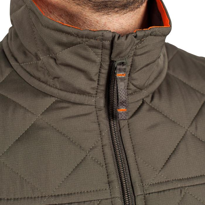 Quilted hunting jacket 100 - camouflage green - 1000592
