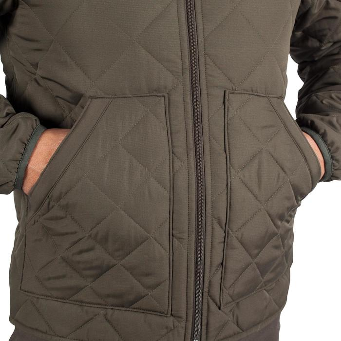 Quilted hunting jacket 100 - camouflage green - 1000594