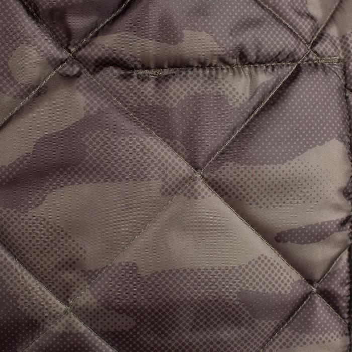 Quilted hunting jacket 100 - camouflage green - 1000599