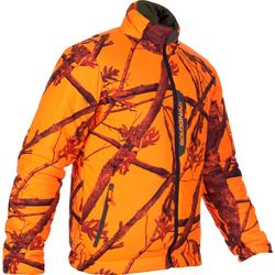 Jagdjacke 500 Camouflage orange wattiert