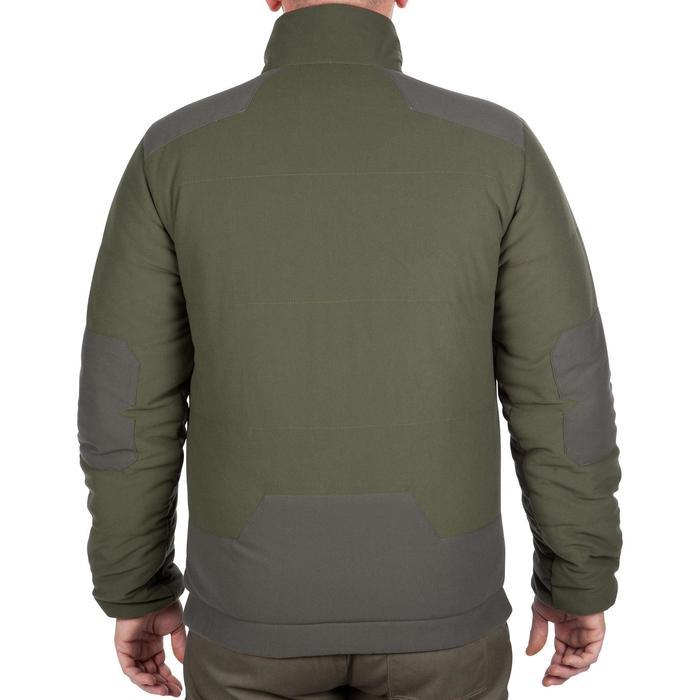 Gewatteerde jagersjas 500 fluo camouflage