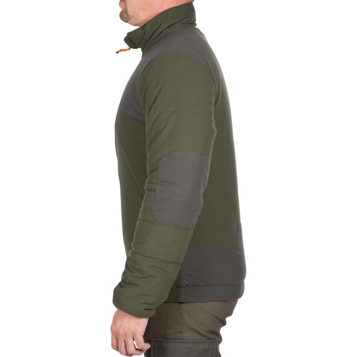Chaqueta Caza Solognac 500 Calida Reversible Camuflaje Naranja Fluo Verde