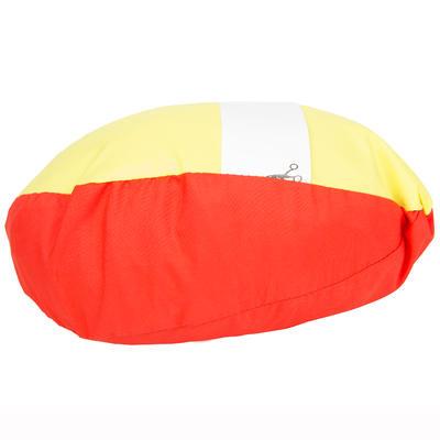 Coupe vent vareuse dériveur/catamaran enfant 100 rouge corail/jaune