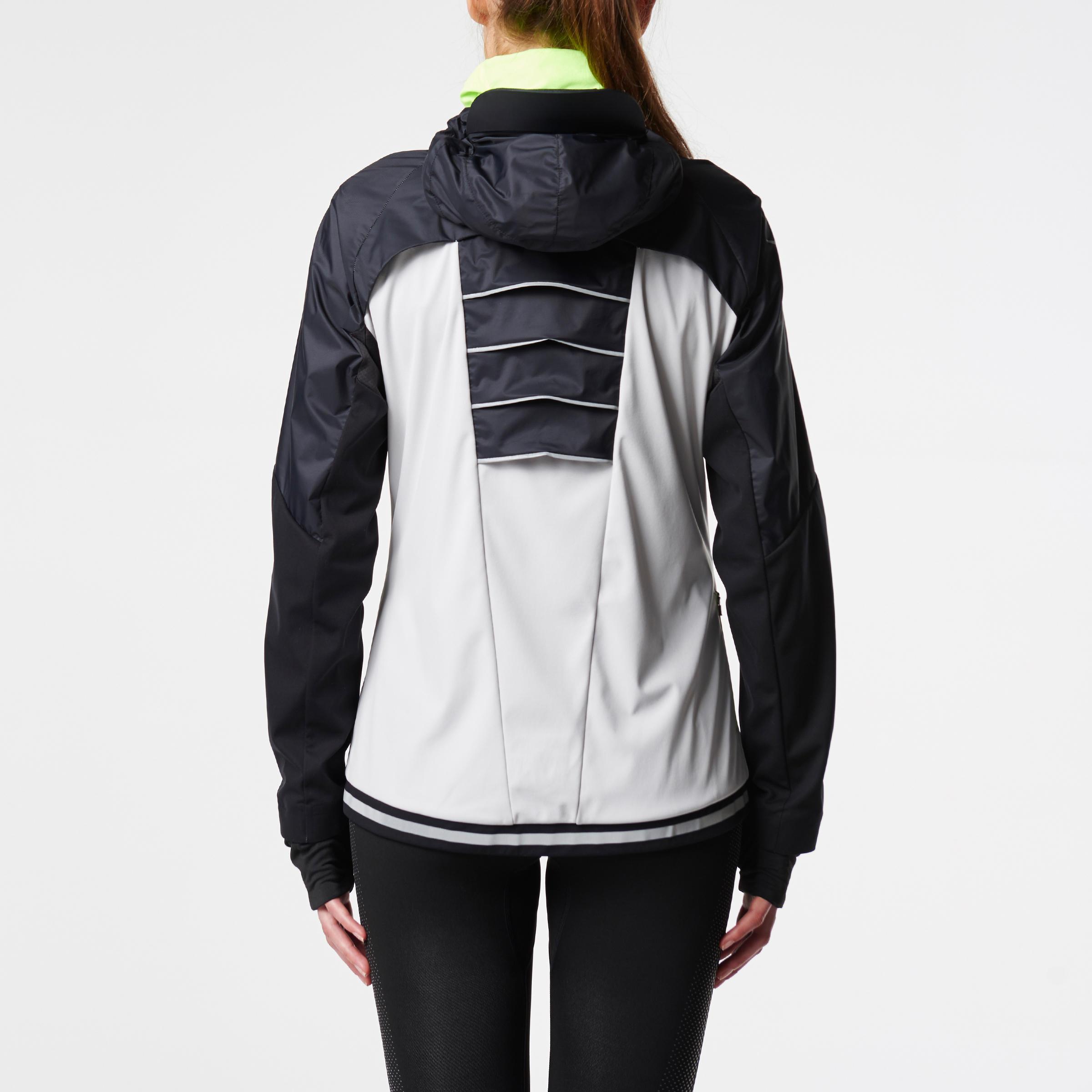 design de qualité 9a60e 86ca1 Femme Running Gris Kiprun Noir Pale Evolutiv Kalenji Veste ...
