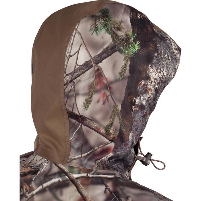 Warme regenparka voor de jacht 500 Actikam camouflage - 1000931