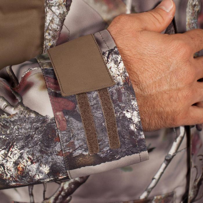 Jagd-Regenjacke 500 warm Camouflage braun