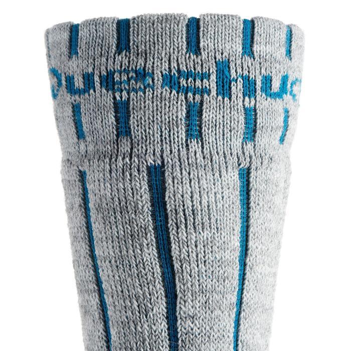 Chaussettes de randonnée neige junior SH100 warm mid gris bleues. - 1001197
