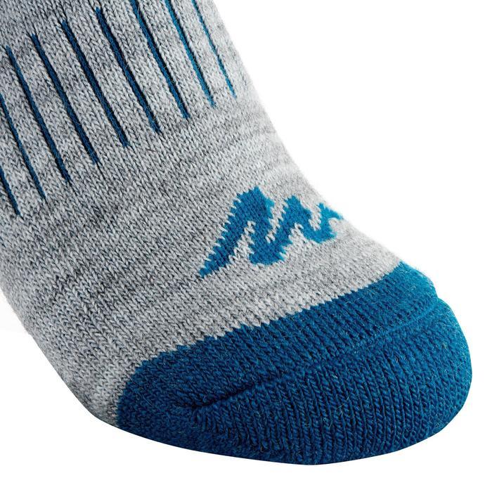 Chaussettes de randonnée neige junior SH100 warm mid gris bleues. - 1001202