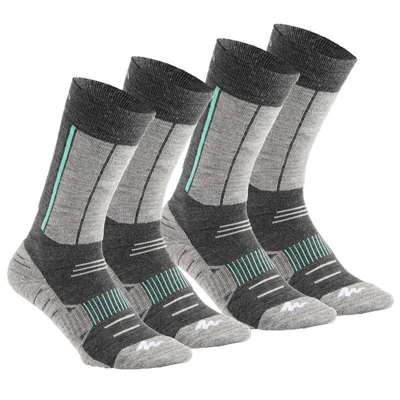 ADULT SNOW HIKING WARM SOCKS - SH500 Act Warm Adult Socks - G QUECHUA