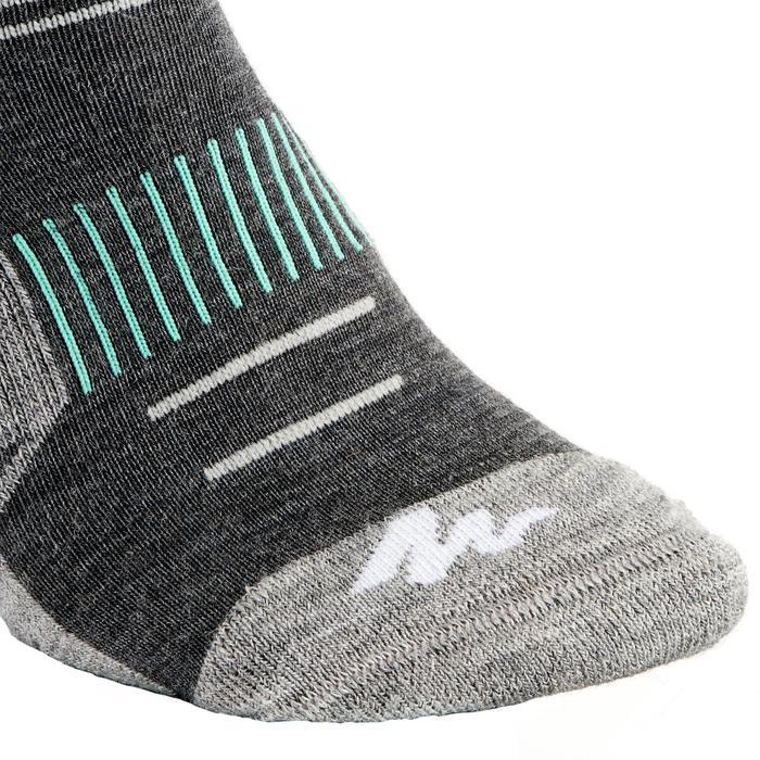 Sokken voor wandelen in de sneeuw volwassenen SH500 active warm grijs