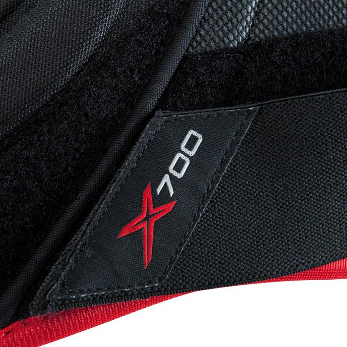 Eishockey-Schulterschoner Vapor X700 Kinder schwarz/rot