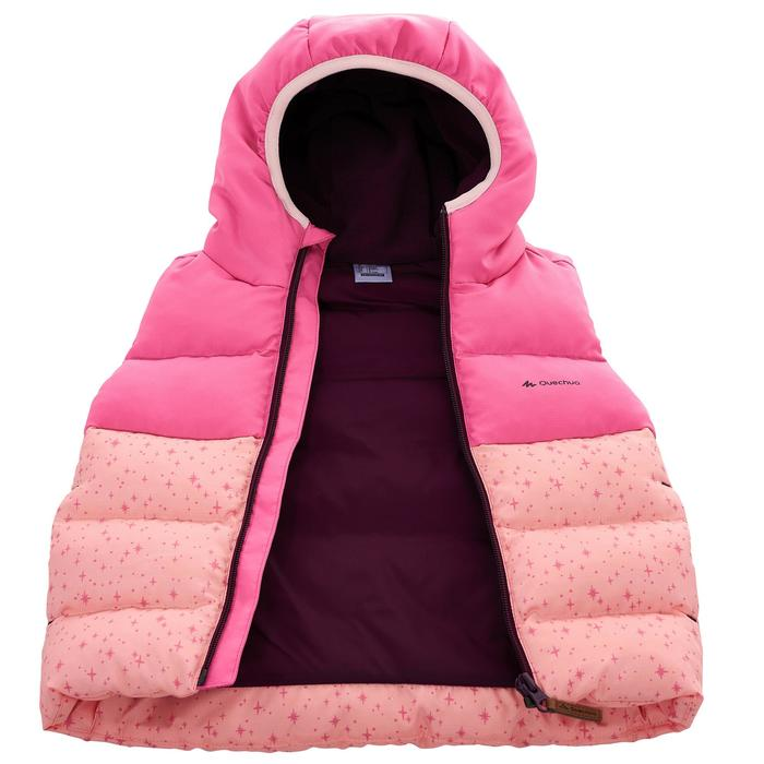 兒童款超保暖健行鋪棉背心-粉紅色