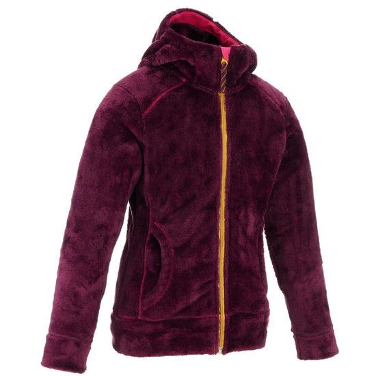 Fleece meisjeshoodie voor trekking Warm - 1002391