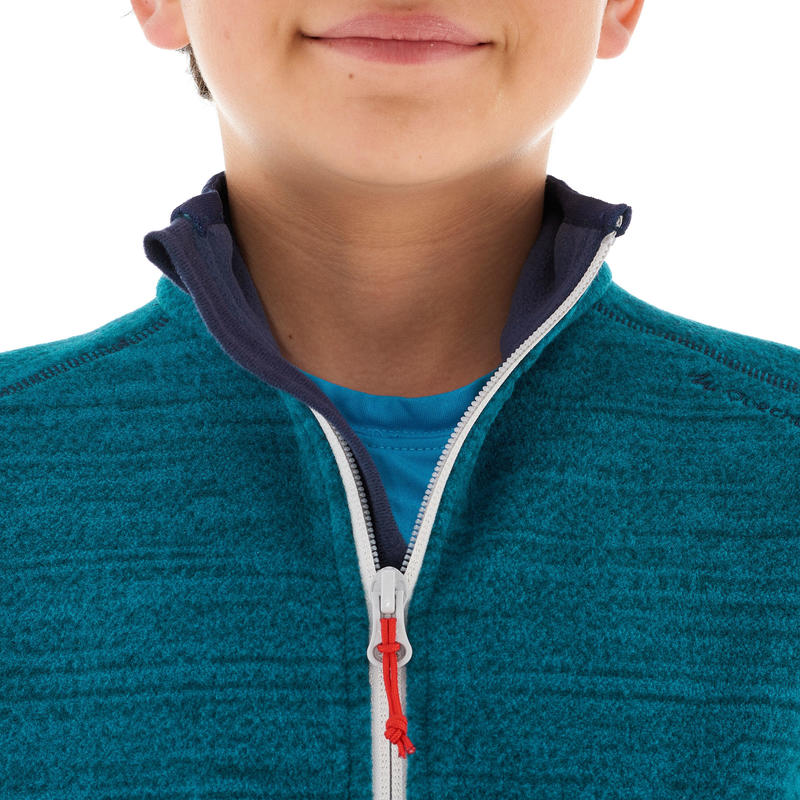 Boy's Hiking Fleece Jacket Hike 150 - Blue