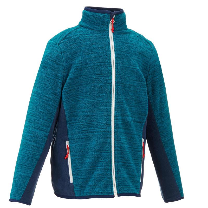 Boy's Hiking Fleece Jacket Hike 150 - Blue