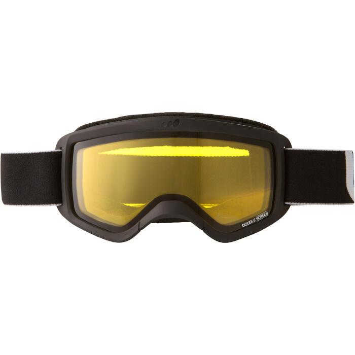 Ski- en snowboardbril Snow 300 bewolkt weer zwart - P - 1002712
