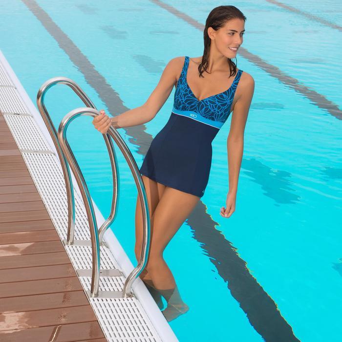 Maillot de bain de natation gainant femme une pièce Kaipearl skirt - 1002742