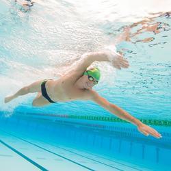 zwemslip zwemmen heren zwemslip 900 Yoke blauw wit