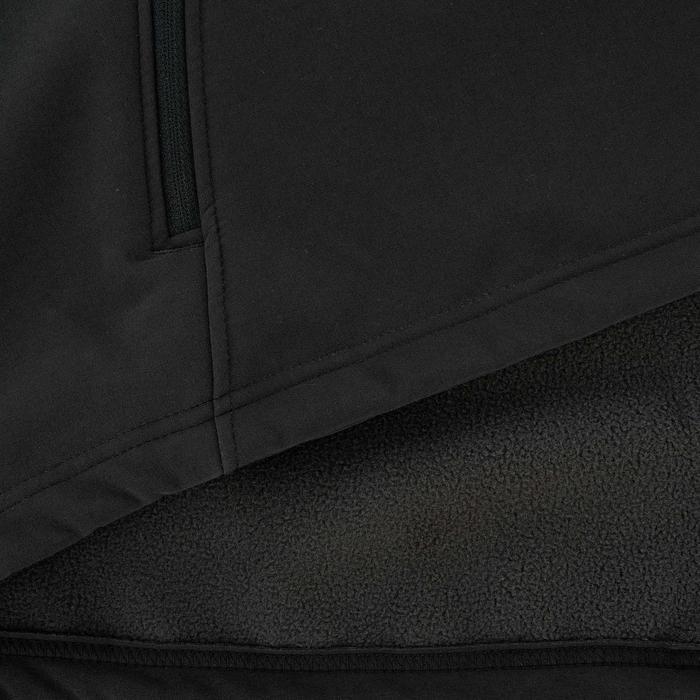 Softshell jas voor bergtrekking Trek 100 WIndWarm heren zwart