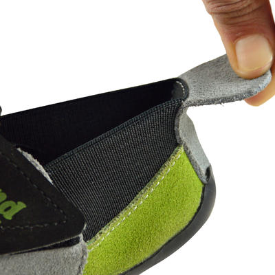 JUNIOR ROCK CLIMBING SHOES GREY GREEN