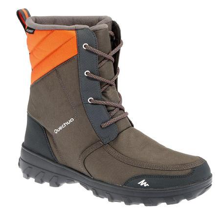 luxuriant dans la conception vraie qualité comment commander Bottes de randonnée neige homme SH300 chaudes et imperméables Gris foncé