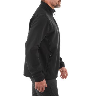 מעיל טיולים רך ווינדוורם 100 לגברים שחור