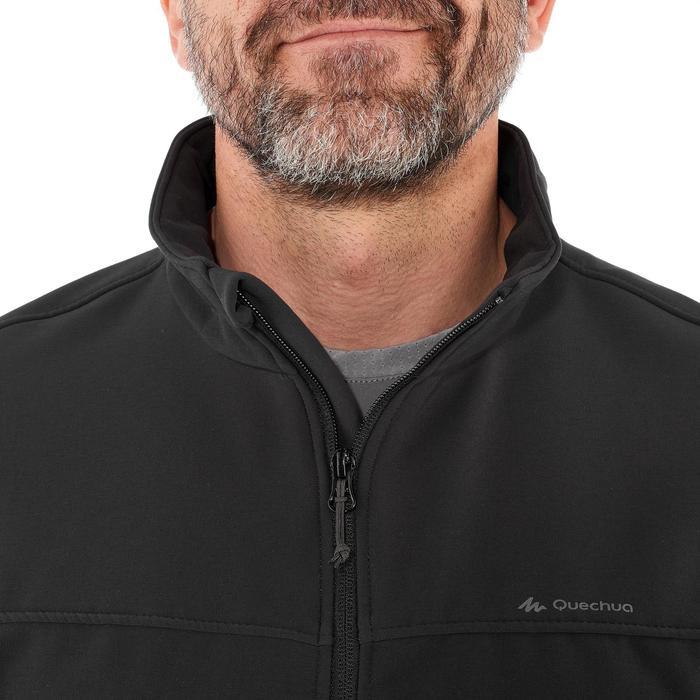 Softshell cálida cortaviento trekking montaña - TREK 100 WINDWARM negro hombre