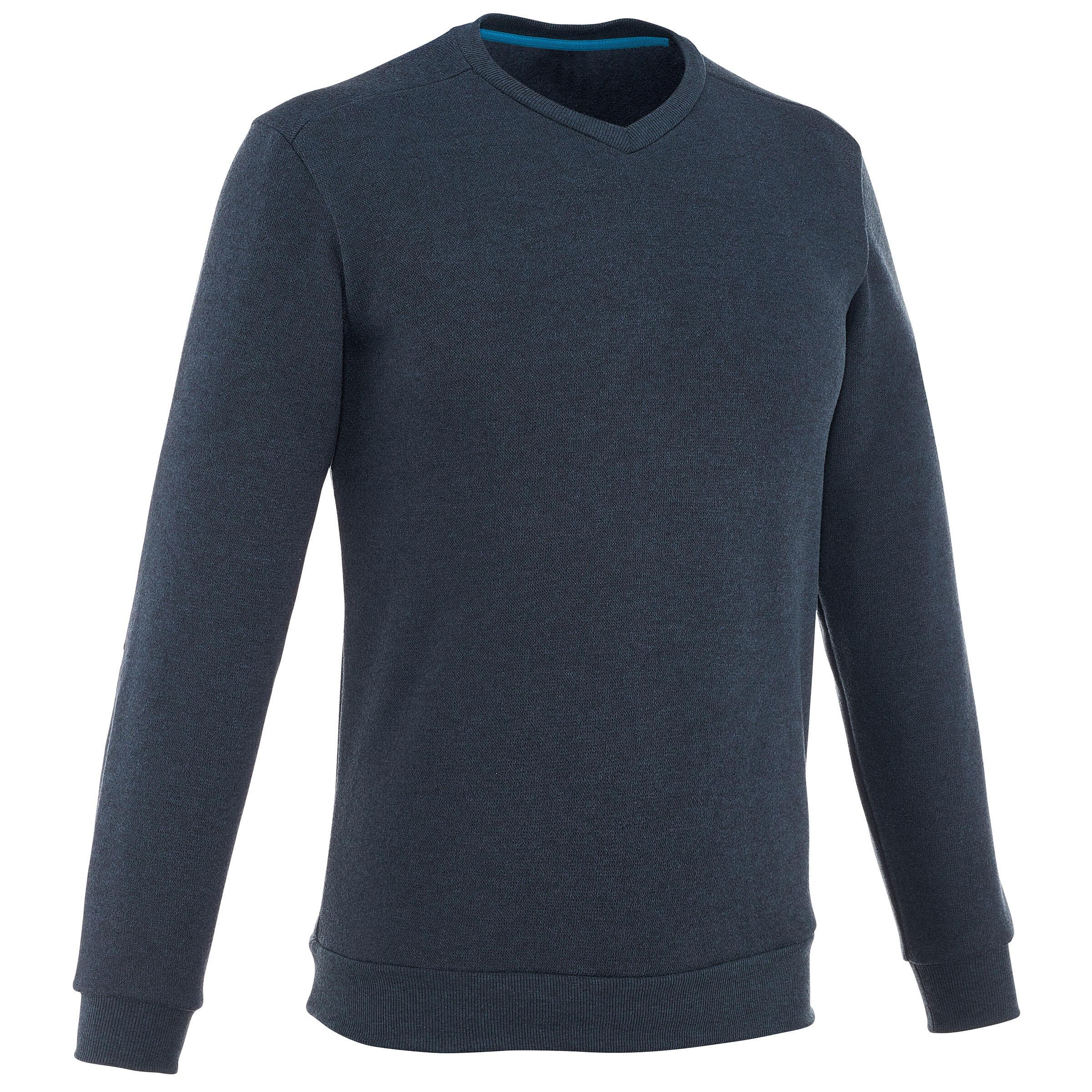 Suéter de campamento caballero Arpenaz 100 azul marino