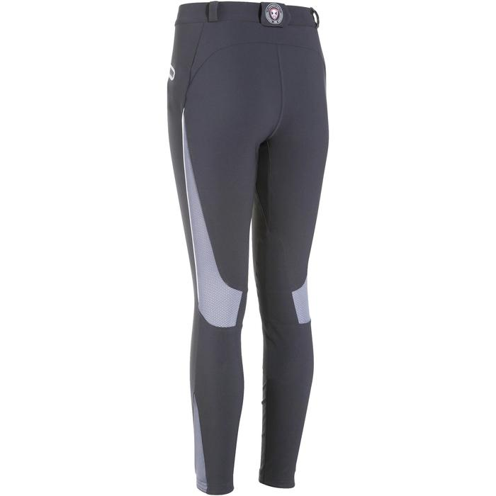 Pantalón de equitación para mujer TRAINING MESH ligero gris oscuro