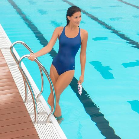 maillot de bain de natation une pi ce femme leony bleu. Black Bedroom Furniture Sets. Home Design Ideas