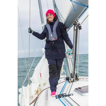 500 Sailing Fleece Hat - Blue/Orange - 1004315