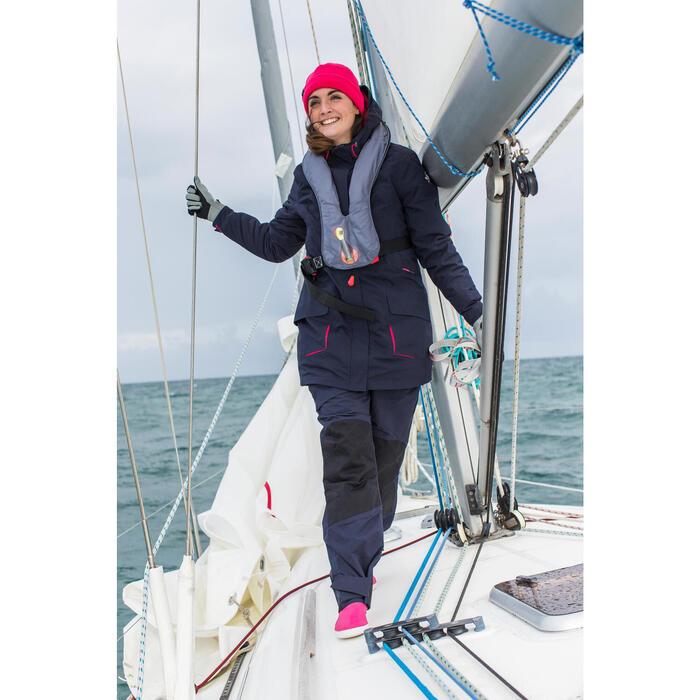 500 Sailing Fleece Hat - Blue/Pink