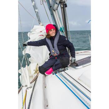 500 Sailing Fleece Hat - Blue/Orange - 1004316