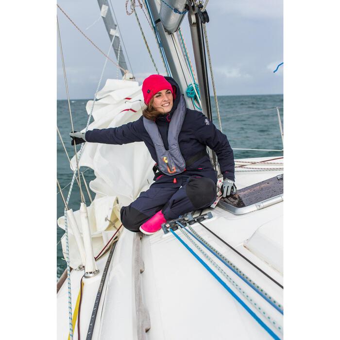 500 保暖透氣兩穿航海運動毛帽 藍色/粉紅色