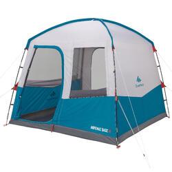 Shelter met deuren kamperen 8 personen UPF 30 blauw