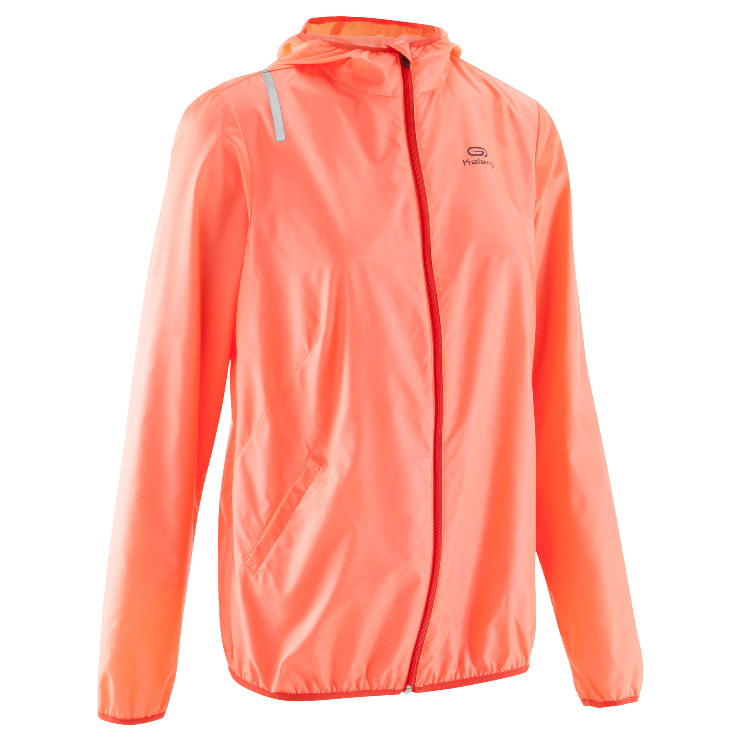 Run Wind Women's Running Windproof Jacket - Neon Coral