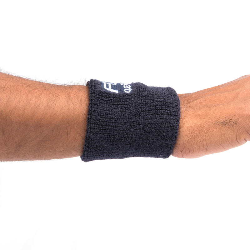FLX Wrist Band, Super Absorbent, Black, Free Size