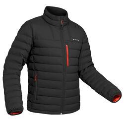男款登山健行羽絨外套-溫度分級-10°C-Trek 500-黑色