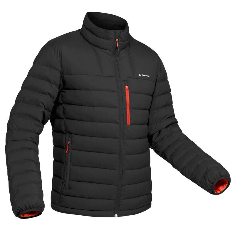 Donsjas voor bergtrekking heren comfort -10°C Trek 500 zwart