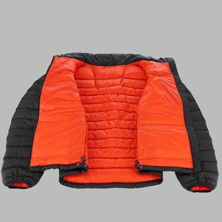 """Vīriešu kalnu trekinga dūnu jaka, līdz –10°C, """"Trek 500"""", melna"""