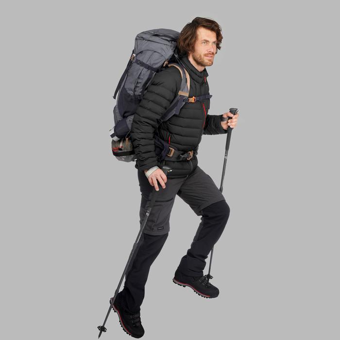 Abrigo Chaqueta Plumón Montaña Trekking Forclaz TREK500 Acolchada Hombre Negro
