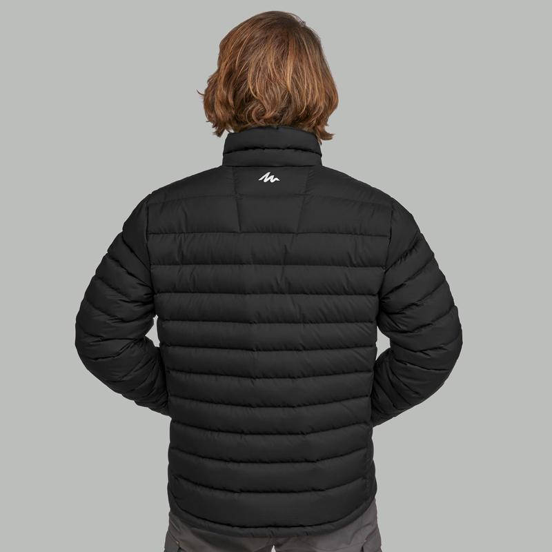 เสื้อแจ็คเก็ตดาวน์สำหรับผู้ชายใส่เทรคกิ้งบนภูเขา พิกัดอุณหภูมิ -10°C รุ่น Trek 500 (สีดำ)