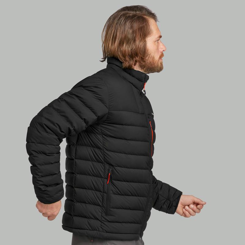 Men's Mountain trekking down jacket _PIPE_ TREK DOWN 500 - Black