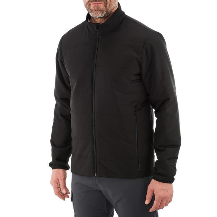 Wattierte Jacke Naturwandern NH100 Herren schwarz