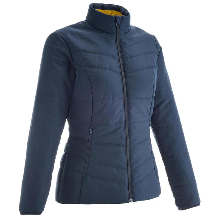 25df3567610 Chaqueta acolchada de senderismo en la naturaleza para mujer NH100 azul  marino