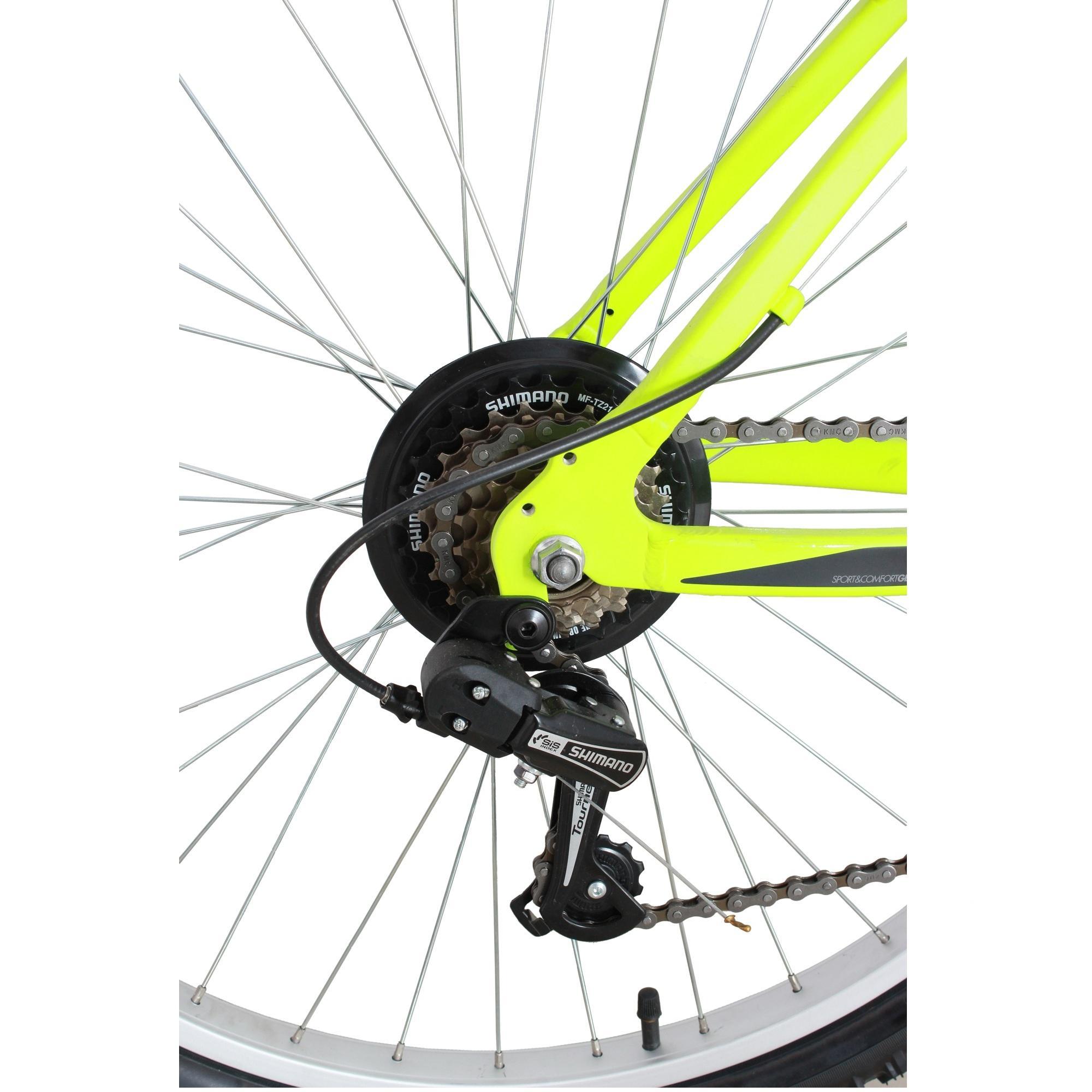 BTWIN ROCKRIDER 340 YELLOW MTB CYCLE